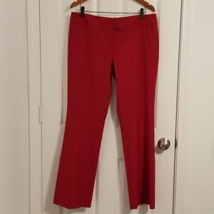 The Limited - Drew Fit Red work/dress Pants